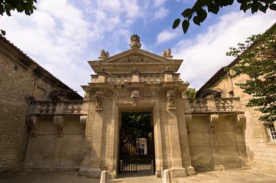 Europe, France, Provence, Villeneuve-Les-Avignon,  La Chartreuse, main gate