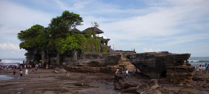 Tanah Lot Temple on ocean