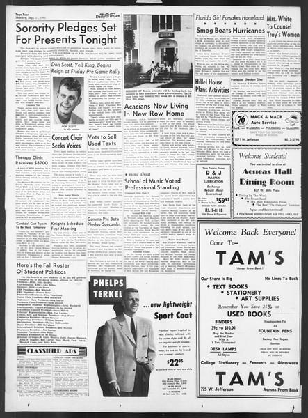 Daily Trojan, Vol. 43, No. 1, September 17, 1951