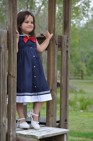 Alaina in a Sailor Dress