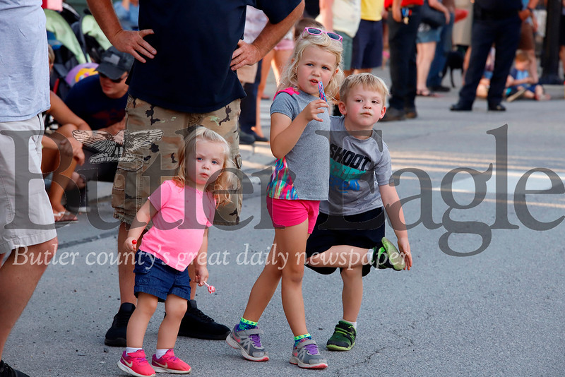 Children and their parents lined Main Street in Zelienople Thursday evening for the town's annual horse parade. Seb Foltz/Butler Eagle