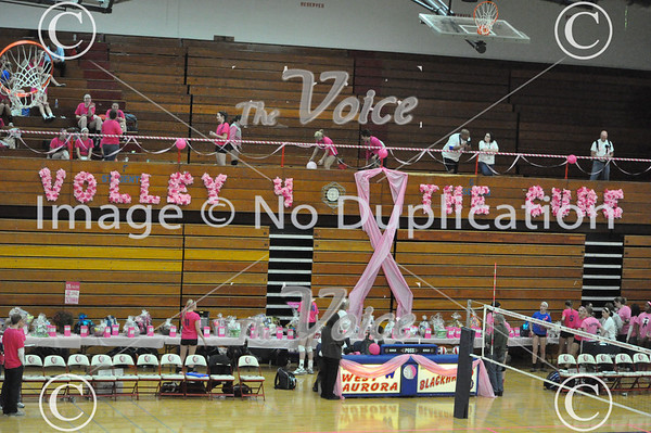 West Aurora High School Girls Volleyball Volley For a Cure vs. Wheaton North High School at West Aurora High School in Aurora, Ill 10-17-13