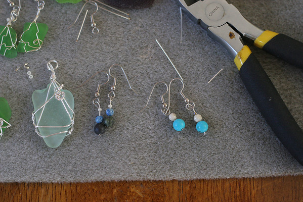 Sea Glass Wine Charms and Jewelry