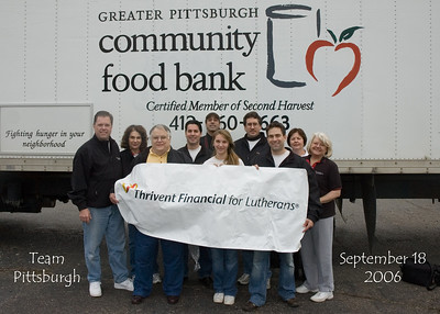 Hams Distribution at with the Greater Pittsburgh Community Foodbank 2006
