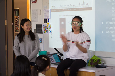 11.14.2018 WISE Club Chemistry Club Demonstration with 4th Grade Girls