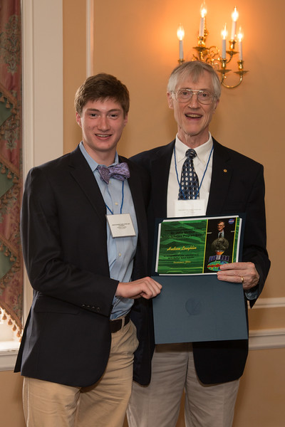 Hudson Loughlin -- 2016 Dr. John Mather Nobel Scholars Program Award  luncheon, held at the Hopkins Club, Johns Hopkins University, Baltimore, MD, July 26, 2016.