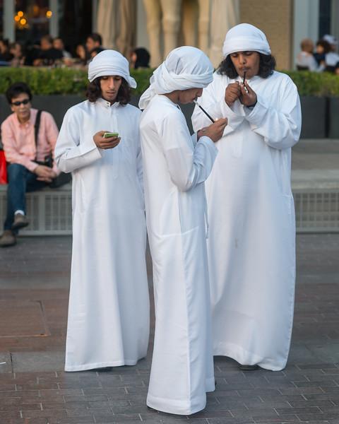 Men in Dubai, March 2015