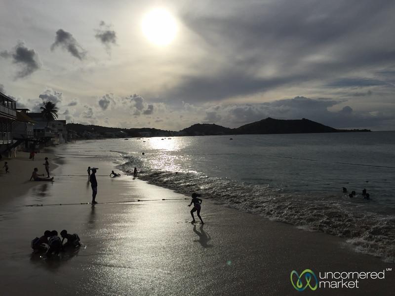 School Kids Play in the Sea - Grand Case, St. Martin