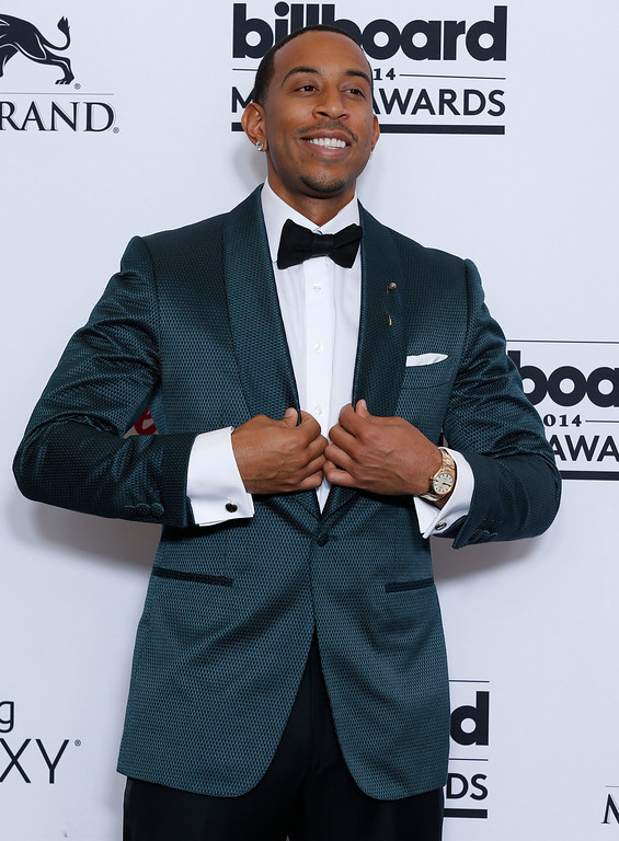 . Ludacris poses in the press room at the Billboard Music Awards at the MGM Grand Garden Arena on Sunday, May 18, 2014, in Las Vegas. (Photo by Eric Jamison/Invision/AP)