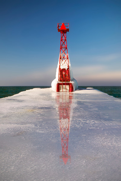 Pentwater, Michigan on Ice
