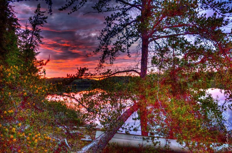 Temagami Sunset - Alexander Lake