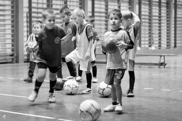 Kids Playing Indoor Football 2013