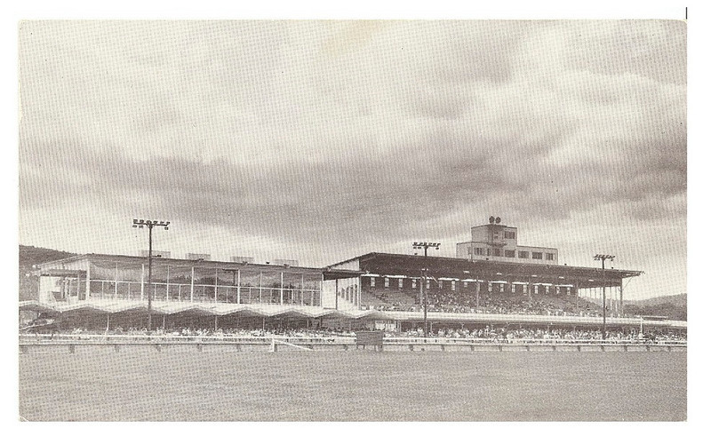 . The grandstand, where spectators would watch the races. (from the Hinsdale Historic Society)