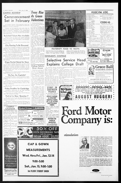 Daily Trojan, Vol. 57, No. 60, January 05, 1966