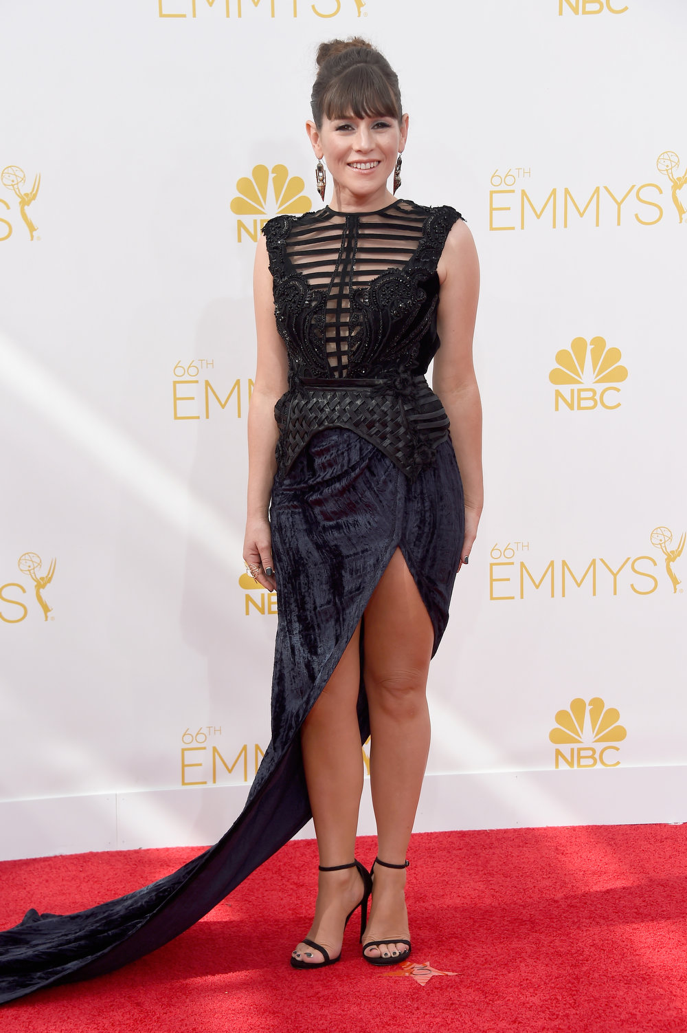 . Actress Yael Stone attends the 66th Annual Primetime Emmy Awards held at Nokia Theatre L.A. Live on August 25, 2014 in Los Angeles, California.  (Photo by Frazer Harrison/Getty Images)