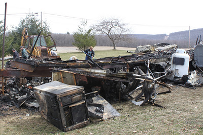 Fire Aftermath, Cleanup, 687 Brockton Mountain Drive, Barnesville, Ryan Township (3-30-2011)