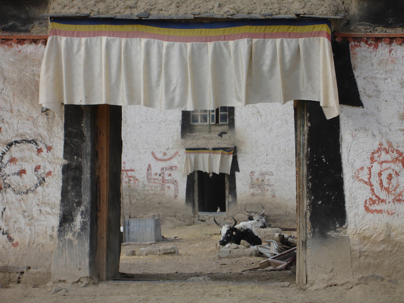 courtyard of a home outside of Lhasa