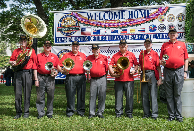 The seven TBDBITL Alumni Vietnam Veterans.  Gentlemen, humble thanks for your service!