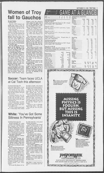 Daily Trojan, Vol. 121, No. 9, September 13, 1993