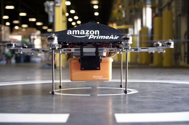 """. <p><b> Amazon CEO Jeff Bezos made headlines on �60 Minutes� when he announced plans to have drones begin delivering these by 2015 � </b> <p> A. Parcels weighing less than five pounds <p> B. Express mail packages <p> C. Chemical weapons <p><b><a href=\'http://www.cnn.com/2013/12/02/tech/innovation/amazon-drones-questions/\' target=\""""_blank\"""">HUH?</a></b> <p>    (AP Photo/Amazon)"""