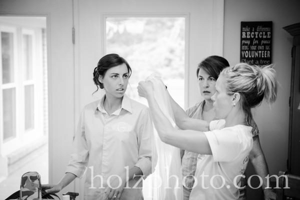 Emily & Chris B/W Wedding Photos