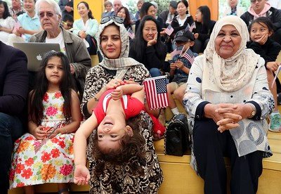 Photos: 24 children from 16 countries become U.S. citizens in Oakland ceremony