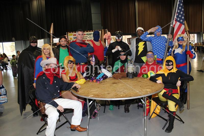 Justice Society photo shoot at NJ Comic Expo 2015