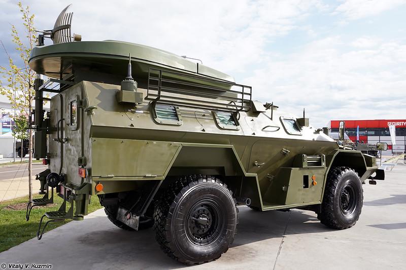 Мобильный пункт управления подразделения БПЛА на базе КАМАЗ-43269 Выстрел (UAV unit command and control vehicle on KAMAZ-43269 Vystrel base)