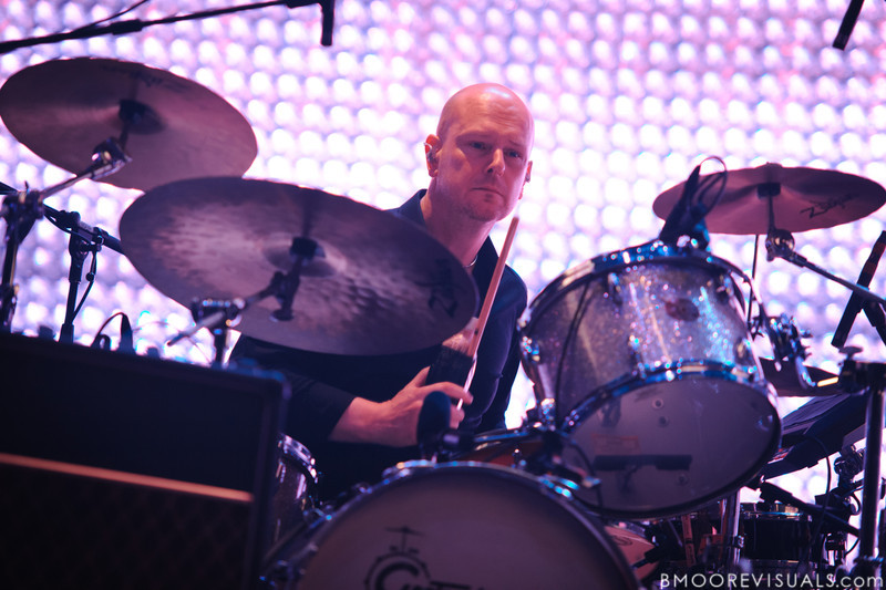 Phil Selway of Radiohead performs on February 29, 2012 at Tampa Bay Times Forum in Tampa, Florida