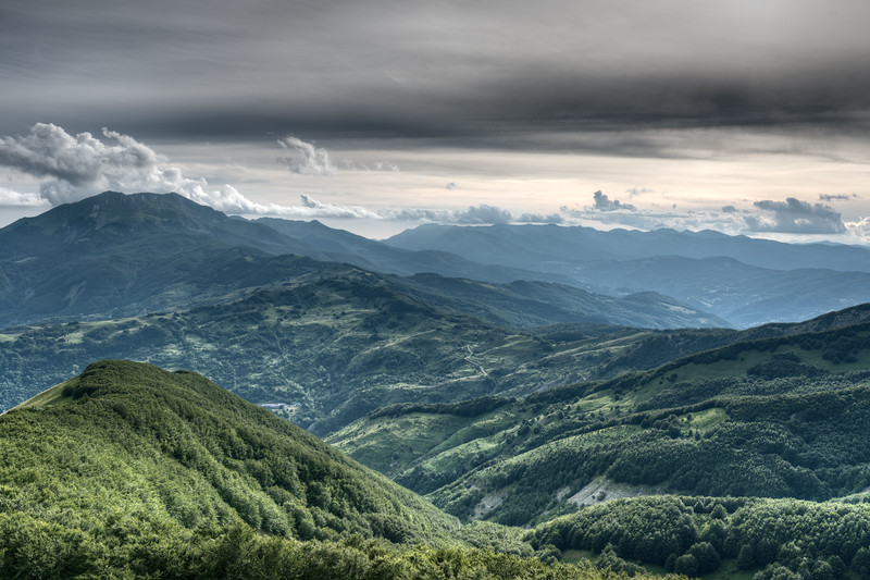 View from Monte Ventasso - Busana, Reggio Emilia, Italy - June 12 , 2015