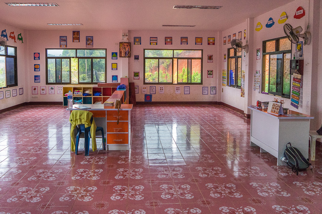 Karen Village Classroom Interior