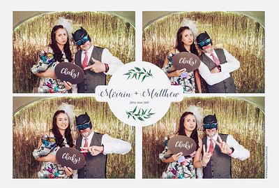 Mirain and Matthew - St Tewdrics photo booth fun, Chepstow