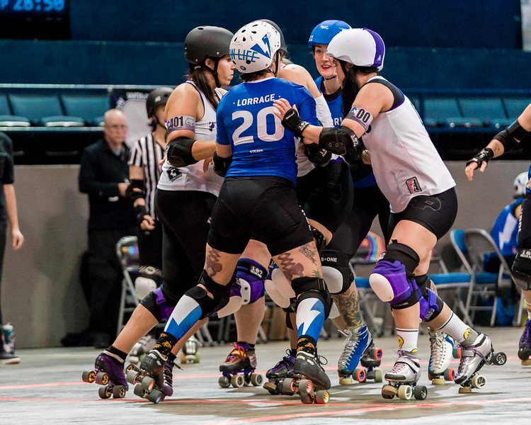2018 WFTDA  Championships New Orleans Game13 Rose City vs Victoria 1st 2nd ©Keith Bielat