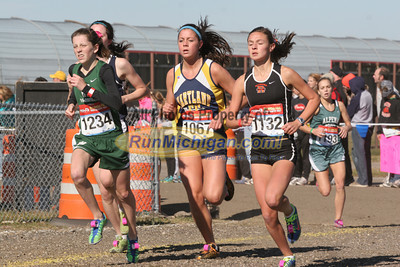 Girls D1 at 800M Mark - 2011 MHSAA LP XC Finals