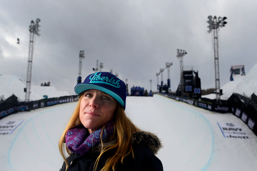 . ASPEN, CO. - JANUARY 24: Elana Chase is the coach for multiple men\'s and women\'s Ski Superpipe athletes including former medalist Torin Yater-Wallace. X Games Aspen Buettermilk Mountain Aspen January 25, 2013 (Photo By AAron Ontiveroz / The Denver Post)