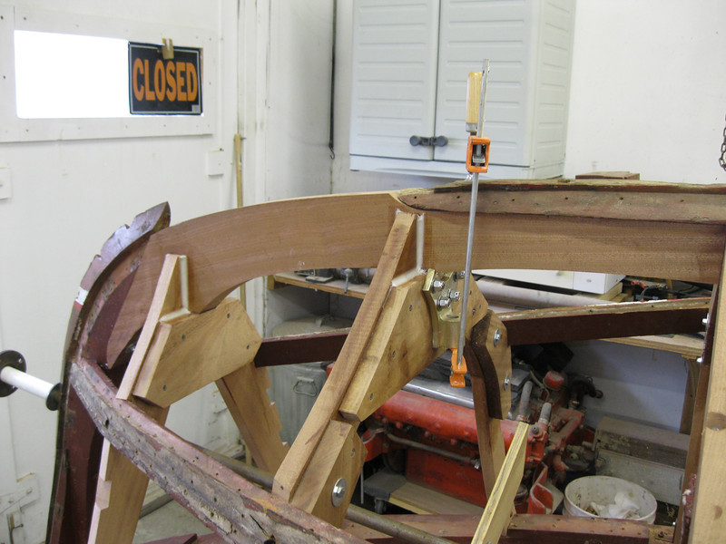 Starboard view of new breast hook installed.