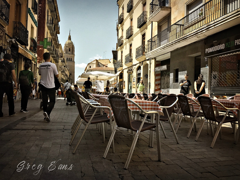 "Salamanca. Spain, Spain's oldest college town, also known as ""La Dorado"" or ""The Golden city."""