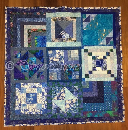 Blue Scrappy Block a Day
