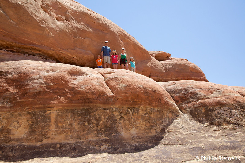 Kids on the slickrock