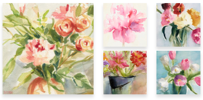 Floral Paintings Wall Art by Beverly Brown