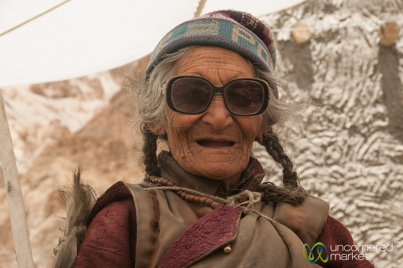 Ladakhi Grandmother at Teahouse - Skyu to Markha Village, Markha Valley Trek, Ladakh