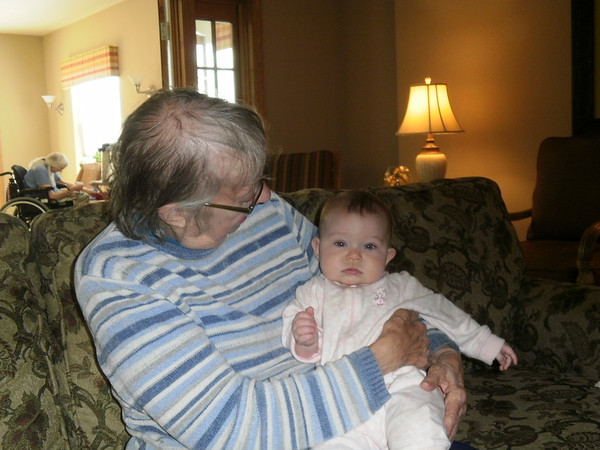 Ellie and her Great Grandmother May 2010