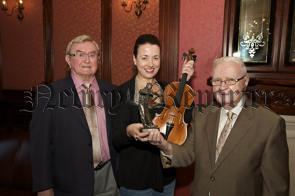 """O""""Brien School of Music Most Promising Student Award winner Airmid Mc Michael pictured with Jim Burns and Sean O""""Driscoll.10W45N701"""