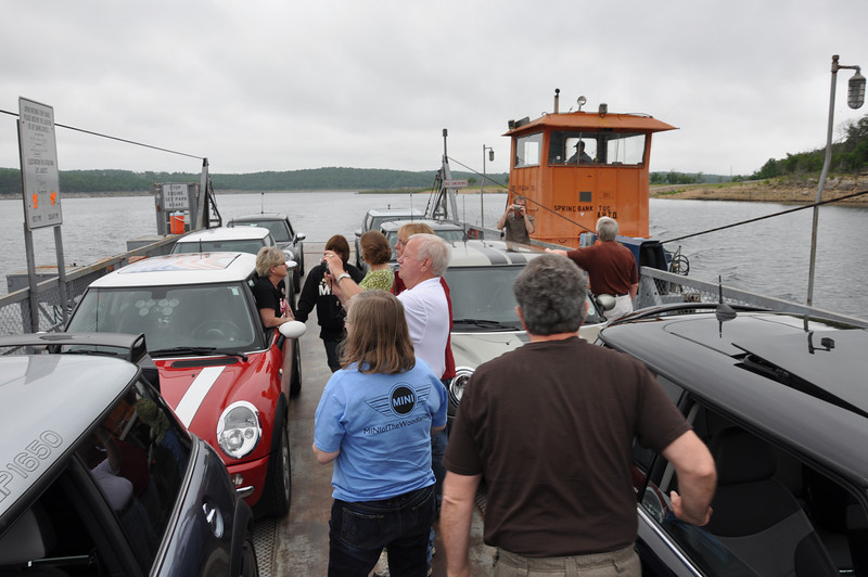 Peel's Ferry loaded with 8 MINIs.