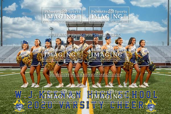 W.J. Keenan 2020 Cheerleading Team and Individuals