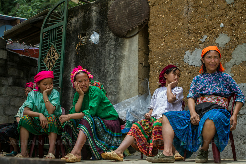Taking a break From Working the Rice Paddies, Dong Van, Ha Giang Province, Northern Vietnam