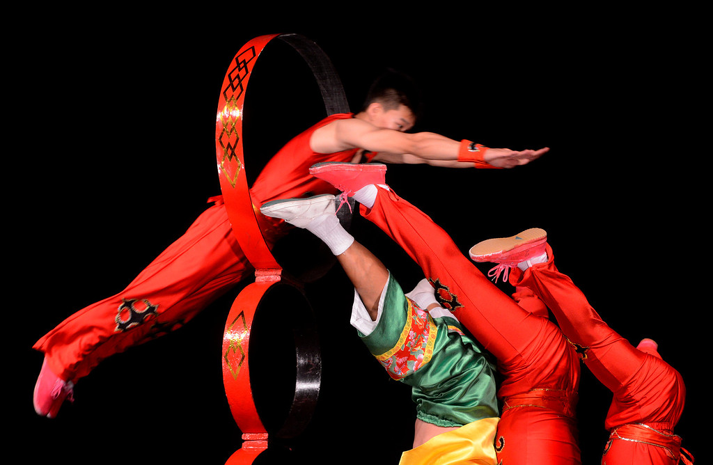 . Performers with the Chinese Circus of Beijing dazzle crowds during the 91st Annual Los Angeles County Fair in Pomona September 1, 2013. GABRIEL LUIS ACOSTA/STAFF PHOTOGRAPHER.