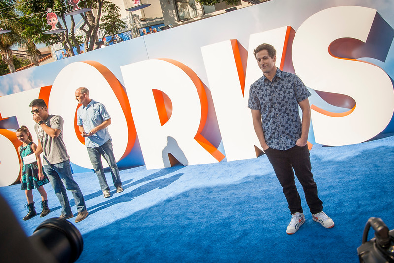 WESTWOOD, CA - SEPTEMBER 17: Actor Andy Samberg attends the premiere of Warner Bros. Pictures' 'Storks' at Regency Village Theatre on Saturday September 17, 2016 in Westwood, California. (Photo by Tom Sorensen/Moovieboy Pictures)