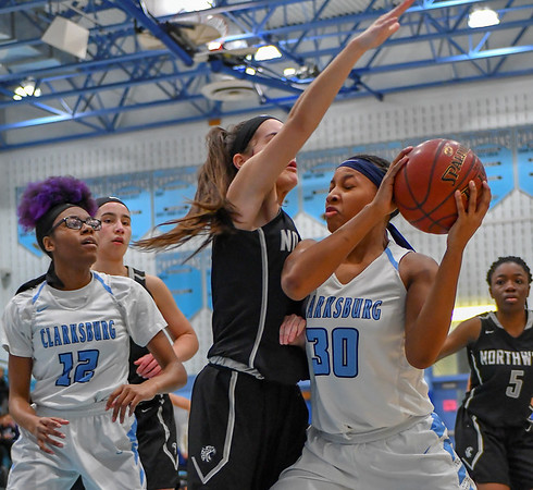 20190111 Varsity Girls Basketball Northwest at Clarksburg