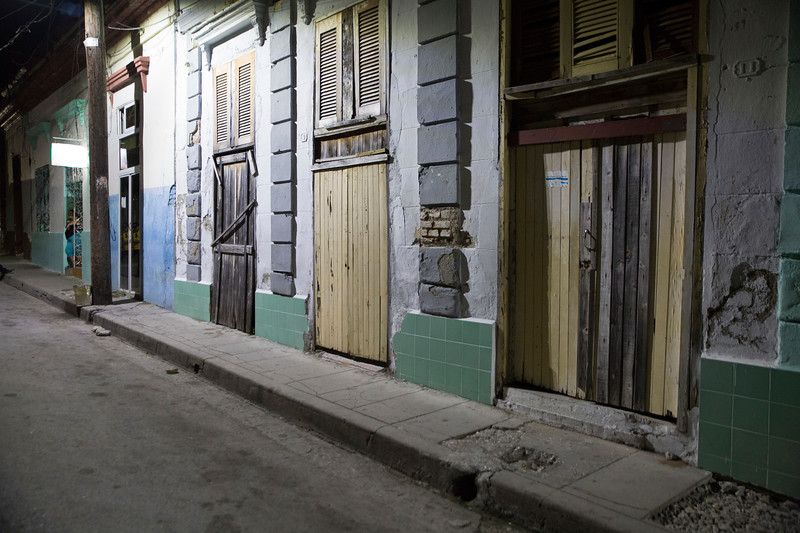 Santa Clara, Cuba Street at Night